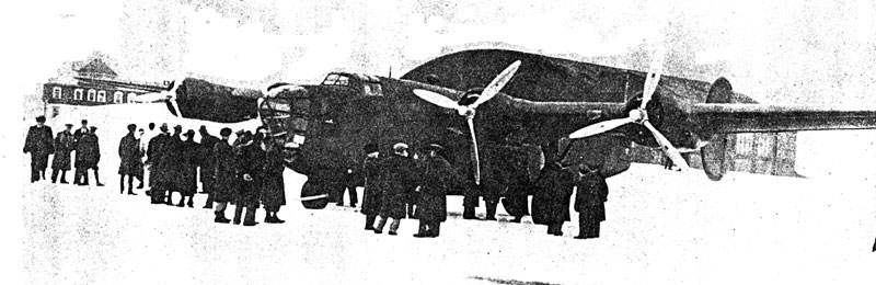 Photo: The first Liberator to pass through Gander airport on its way to be delivered to the UK.