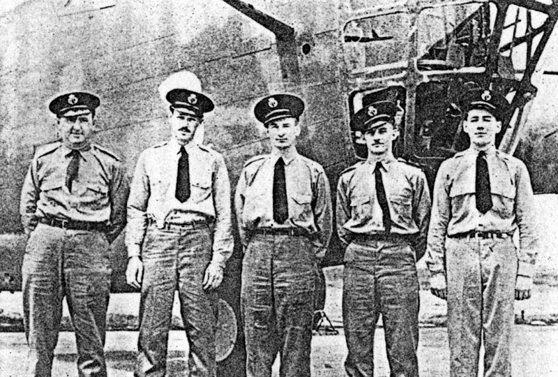 Photo: FC aircrew, Mackay, Ross, Capt. Louis Bisson, Griffiths, King